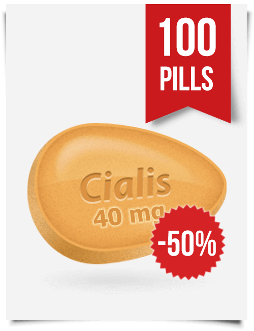 Generic Cialis 40 mg 100 Tabs
