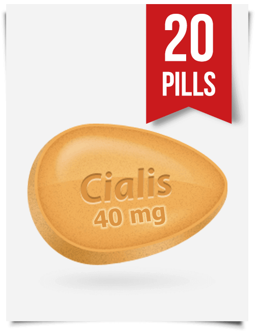 Generic Cialis 40 mg 20 Tabs