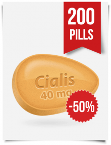 Generic Cialis 40 mg x 200 Tabs