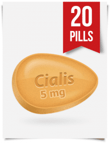 Generic Cialis 5 mg Daily 20 Tabs