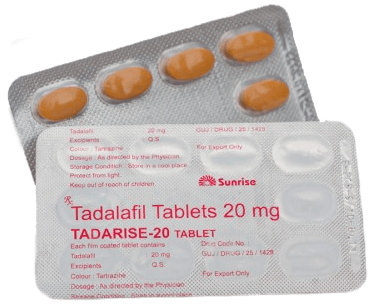 Generic Cialis Tadalafil Tadarise 20mg Sunrise wholesale price