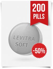 Generic Levitra Soft 20 mg x 200 Tabs