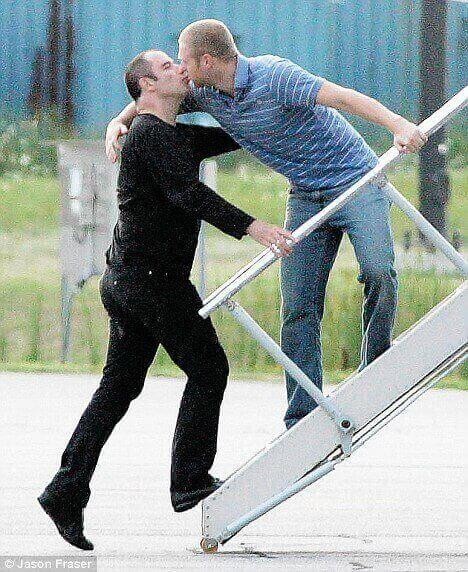 John Travolta gay kissing