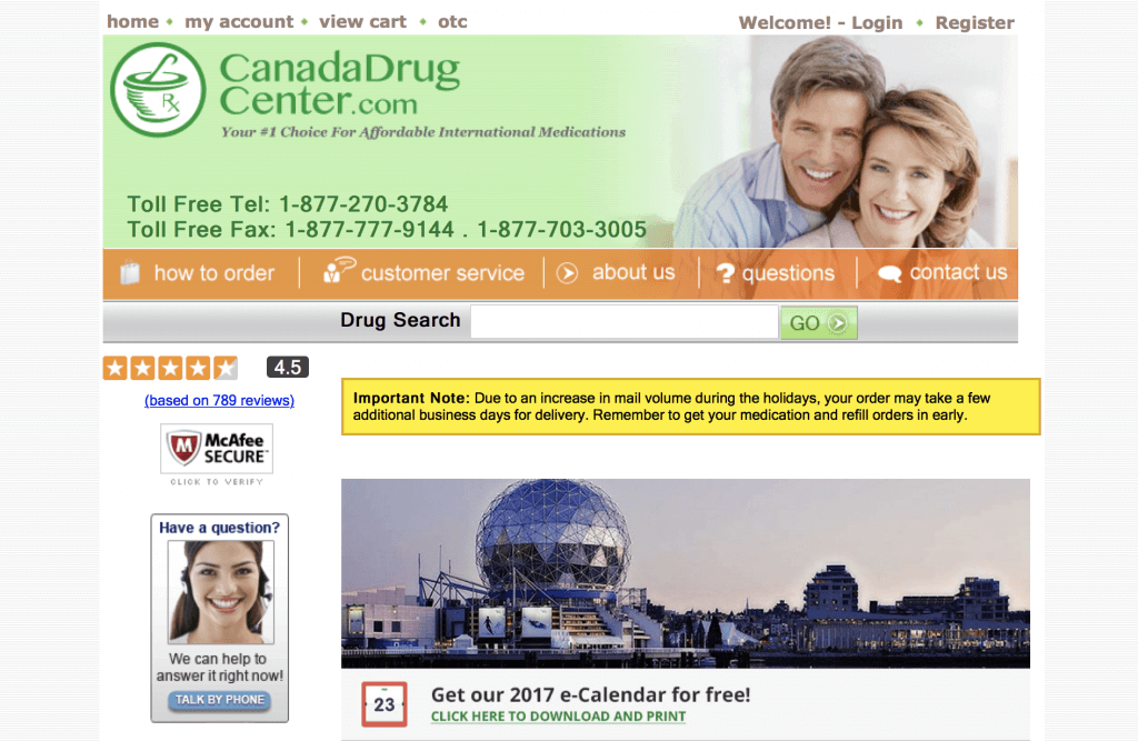 CanadaDrugCenter.com Pharmacy Review
