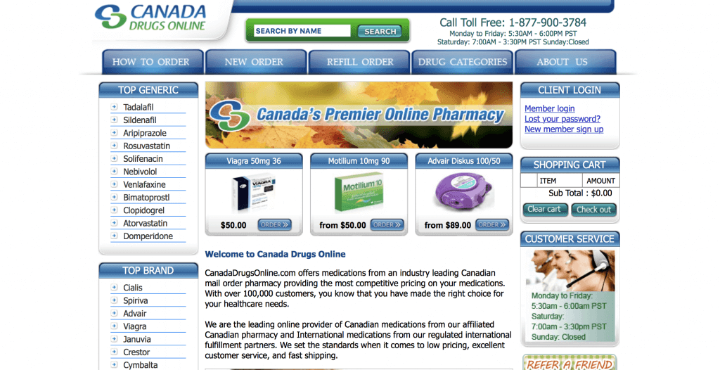CanadaDrugsOnline.com Pharmacy Review