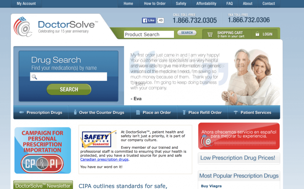 DoctorSolve.com Pharmacy Review