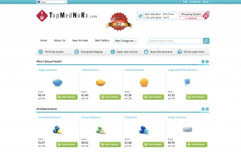 TopMedNoRX.com Pharmacy Review
