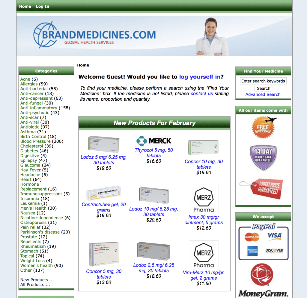 BrandMedicines.com Pharmacy Review