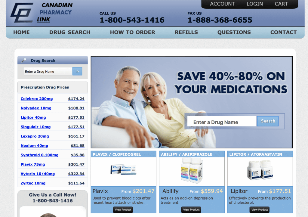 CanadianPharmacyLink.com Pharmacy Review