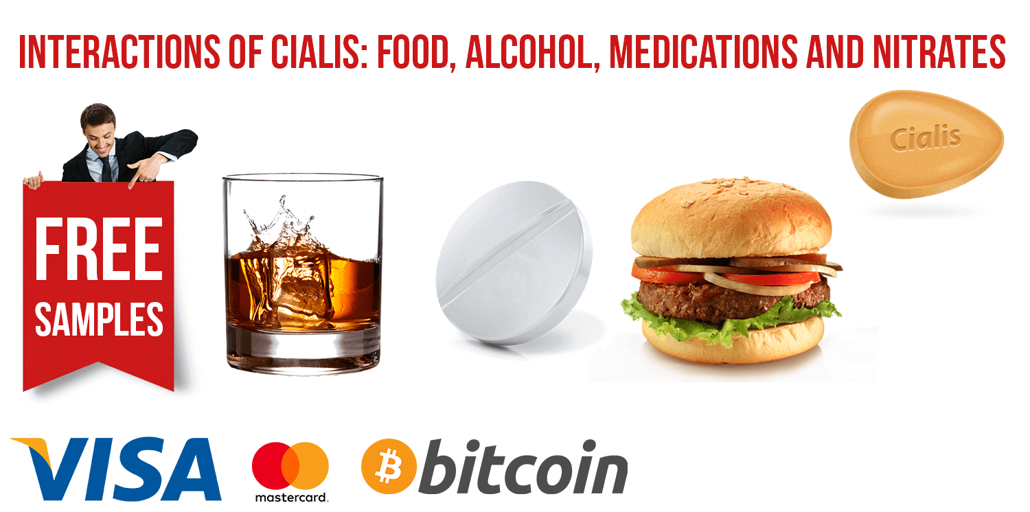 Interactions of Cialis: with Food, Alcohol, Medications and Nitrates