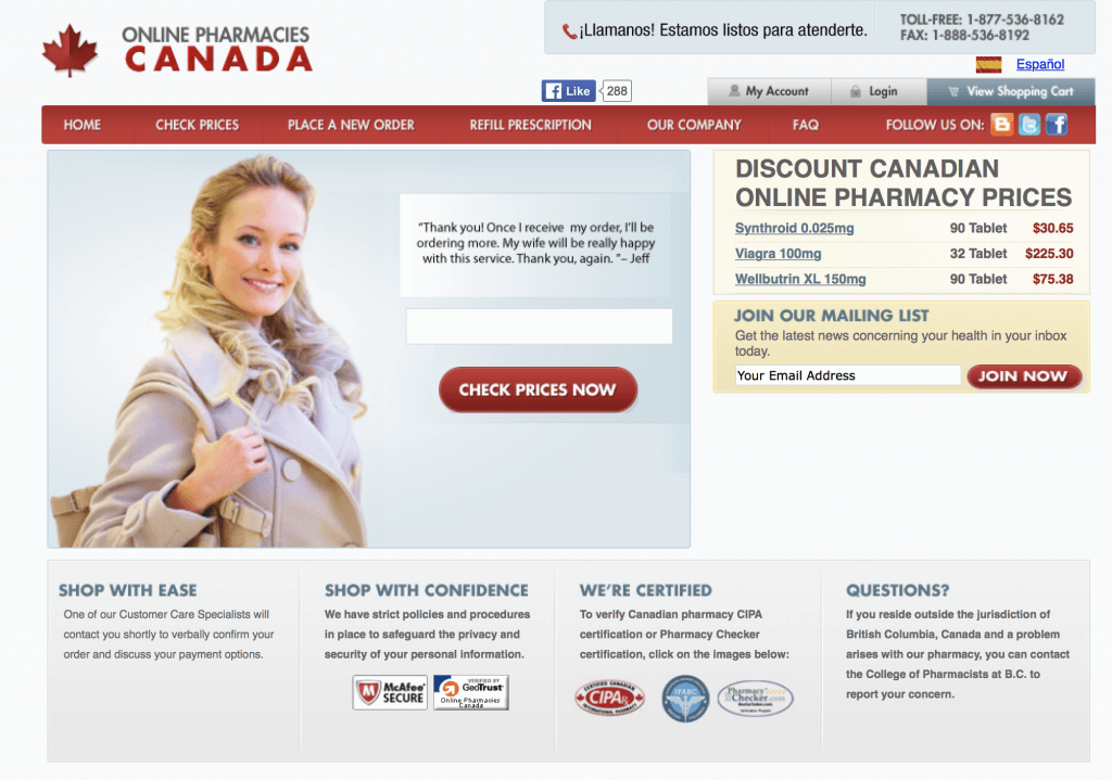 OnlinePharmaciesCanada.com Pharmacy Review