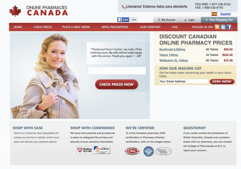 OnlinePharmaciesCanada.com Pharmacy Review