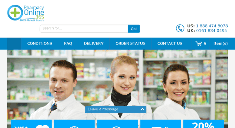 PharmacyOnline365.com Pharmacy Review