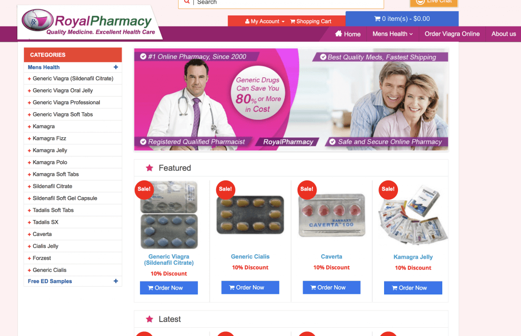 RoyalPharmacy.net Pharmacy Review