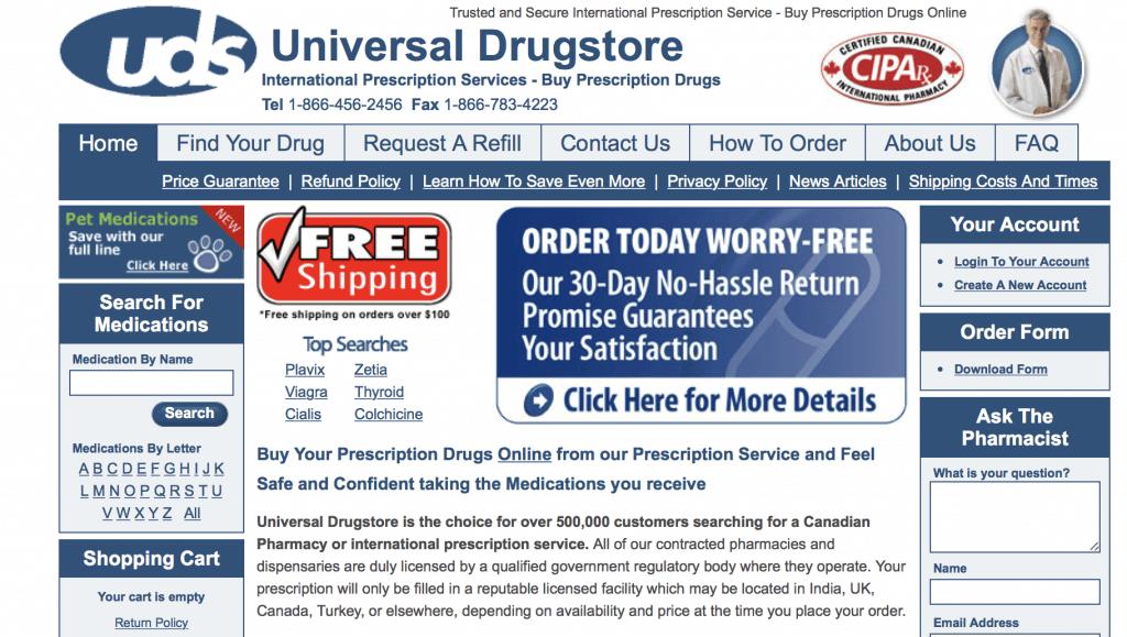 UniversalDrugStore.com Pharmacy Review