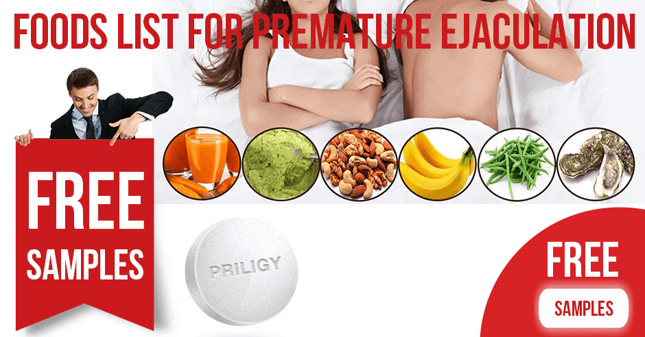 Foods List for Premature Ejaculation