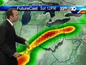 Weather forecast erection