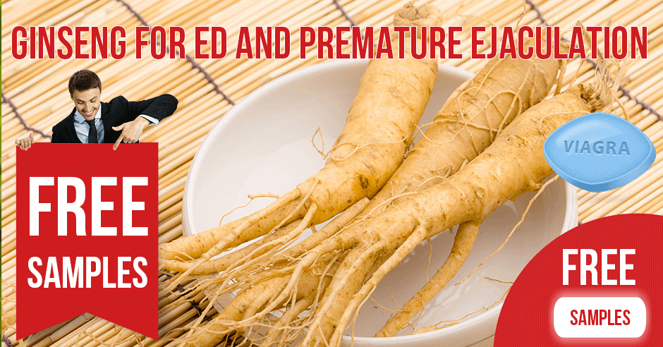 Ginseng for Erectile Dysfunction and Premature Ejaculation