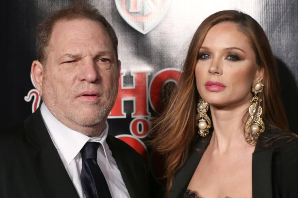 Harvey Weinstein with his wife