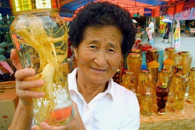 Tincture of ginseng