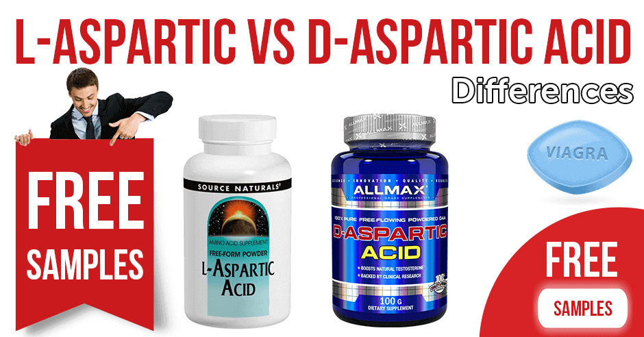 Differences between L-aspartic acid and D-aspartic acid