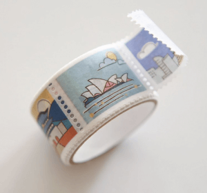 Paper stamp tape